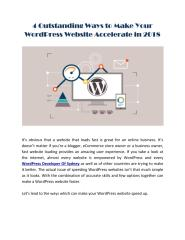 4 Outstanding Ways to Make Your WordPress Website Accelerate in 2018.pdf