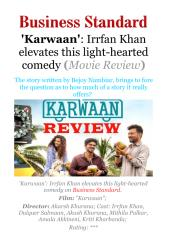 'Karwaan'- Irrfan Khan elevates this light hearted comedy (Movie Review).pdf