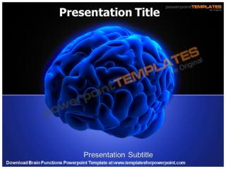 Brain Functions Powerpoint Template - templates for powerpoint.pptx