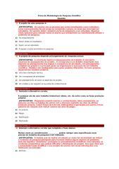 prova de metodologia da pesquisa científica - presencial.doc
